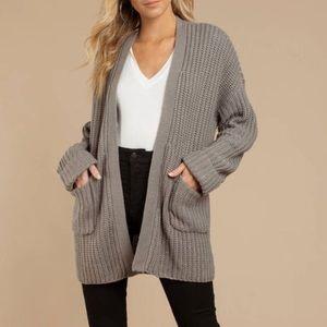 Toni grey knit oversized cardigan
